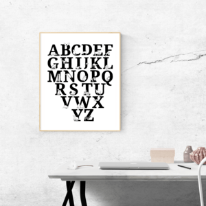 alphabet poster framed
